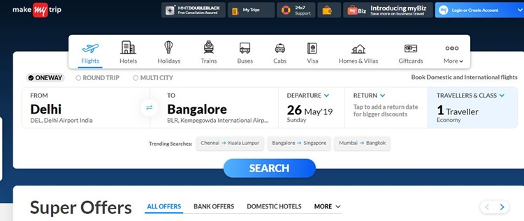 makemytrip coupon code and offers