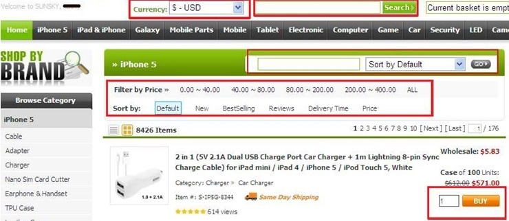 how to place order and apply sunsky online coupon code 4