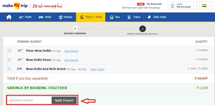Use makemytrip coupon for Book Domestic & International Flight Tickets