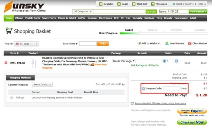 how to use sunsky online coupon codes