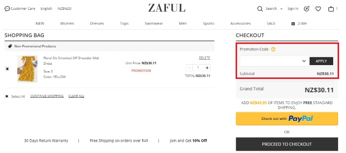 how to use zaful coupon code