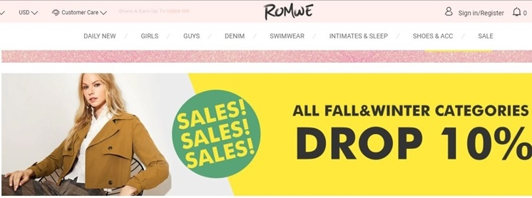 romwe coupon code and deals