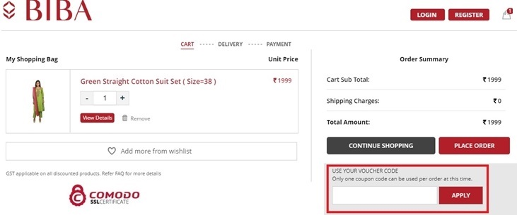 How to buy and use the Biba coupon codes