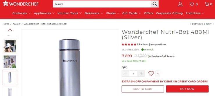How to use wonderchef coupon code