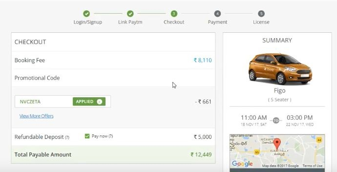 Apply zoomcar coupon code