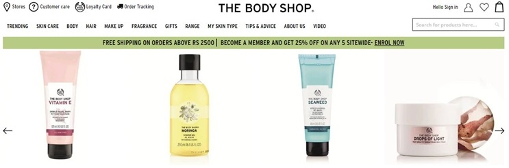 Thebodyshop coupon code and deals