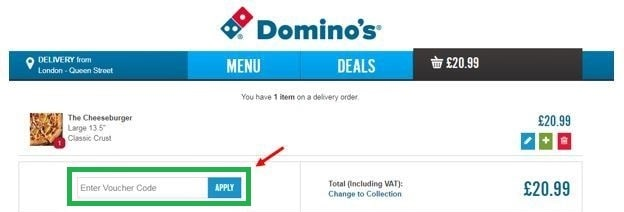 Apply dominos coupon code