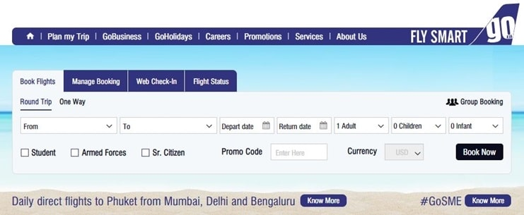 goair coupon code & offers
