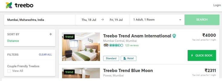 About treebo coupon code & deals